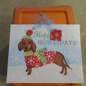 Dachshund Basset Hound Dog Gift Bags - Christmas Birthday Holiday NEW You Choose