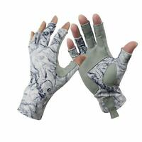 1 Pair Aventik Fingerless Fishing Gloves Outdoor Fingerless Gloves Blue