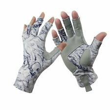 1 Pair Aventik Fingerless Fishing Gloves Outdoor Fingerless Gloves Blue