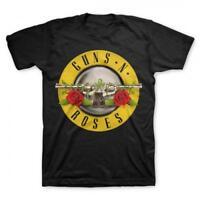 Guns N' Roses Bullet Logo S, M, L, XL, 2XL, 3XL, 4XL, 5XL Black T-Shirt
