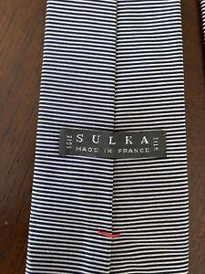 Sulka Black/Gray Tie