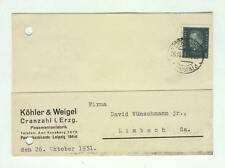 Cover C36 Germany 1931 Leipzig