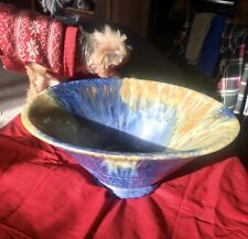 Rare Attic Find Vintage Pottery Fruit Bowl And Candelholders  Exceptional Colors