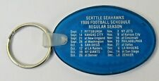 1986 SEATTLE SEAHAWKS Football KEYCHAIN KEY pocket sked schedule JIM'S DETAIL