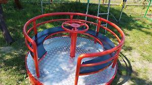 Spielplatz Geräte Kinderkarussell Drehplatte Karussell Ringelreiten Made in EU