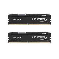 16GB Kingston HyperX FURY DDR4 2x8GB 2400MHz CL15 1.2v 19200 DIMM Desktop Memory