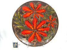 """Cool 70´s """"Flower Power"""" design Ruscha Keramik wall plate Wandteller  717 / 3"""