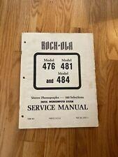 Rock-ola Stereo Phonographs Model 476 481 & 484  Service Manual