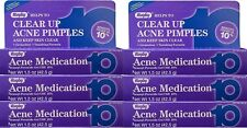 Rugby Acne Medication Gel Benzoyl Peroxide 10% -1.5oz -6 Pack -Exp Date 10-2020