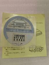 JDM Genuine Unused Parking Permit Decal Sticker japan authentic Toyota Nissan