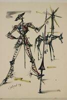 Fernand Schlegel (1920-2002) Aquarelle Originale Don Quichotte signé 1958