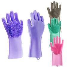 2019 Silicone Pet house Kitchen Silicone Dish Washing soft brush Cleaning Gloves