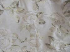 Rachel Ashwell ROSES on soft Grey Blue POPLIN  fabric shabby chic by 1/2 yd