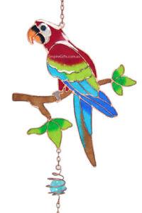 1 x Australian Bird Parrot Wind Chime Garden Hanging Mobile