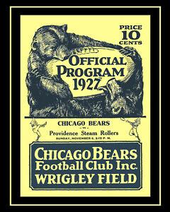 1927 Game Program Bears vs Providence Steam Roller - Art Print, 8x10 Color Photo