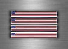 4x Autocollant sticker voiture moto stripes drapeau usa etats unis americain