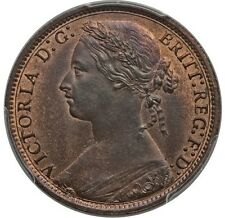 GREAT BRITAIN VICTORIA 1877 PENNY, CHOICE UNCIRCULATED, CERTIFIED PCGS MS64-RB