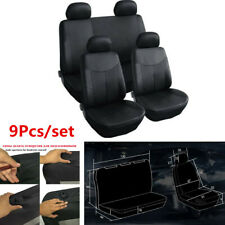 9Pcs Car Seat Covers Front+Rear PU Leather Protector For Interior Accessories