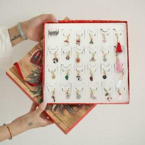 Christmas Bracelet Pendant Ornaments Countdown Advent Calendar Jewelry Findings