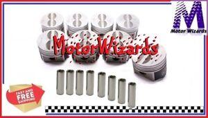 Chrysler Dodge MOPAR 440 SPEED PRO L2355F Forged Flat Top Pistons 8-PACK STD