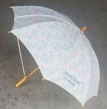 Anais Anais Cacharel Umbrella Parasol White Floral Wood Handle Spring Steampunk