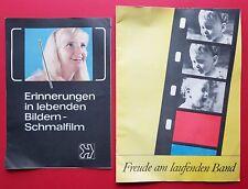 2 x Prospekte ORWO 1969/70 MEOLUX AURORA QUARZ ADMIRA Schmalfilm  ( F16809