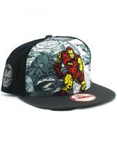 New Era Classic Iron Man 9fifty Snapback Hat Adjustable Marvel Avengers Black