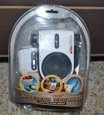 NIP-Innovage Wireless Speaker With FM Scan Radio-Transmits up to 20 Ft