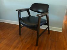 One Vintage Black Gunlocke Style Arm Chair Mid Century Modern Office Chair