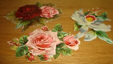 3 x Vintage Scraps  Roses and Flowers