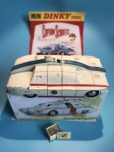 DINKY TOYS VINTAGE 105 CAPTAIN SCARLET MAXIMUM SECURITY VEHICLE BOXED RARE