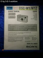 Sony Service Manual DSC W1 /W2 Digital Still Camera (#5798)
