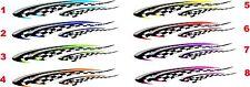 "Helmet Hard Hat Motorcycle Graphics Decal flag Stickers set 2-7""x2"""