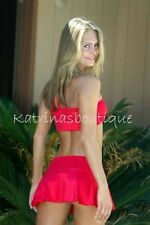 Sexy Red Flair mini booty skirt/stripper/pole dancer/model/Made in usa/s-m