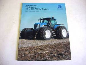 New Holland 170 to 240 HP TG Series Tractors Color Brochure 24 Pages      b1