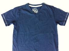 Boys Navy Beige Premium Strength Next V Neck T Shirt 7 y Tee Top Vintage Brand
