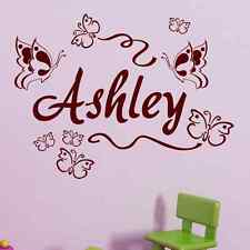 CUSTOM PERSONALIZED BOY GIRL CHILD NAME BUTTERFLIES Vinyl Wall Decal Sticker