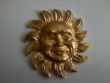 Resina Decorativa Stampaggio-Tradizionale Sole classico in finitura oro dipinto