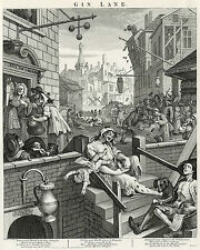 William Hogarth: Print Reproductions: Beer Street & Gin Lane: 2 Fine Art Prints