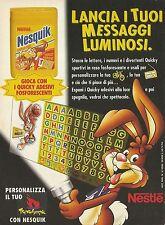 X2755 Nesquik Nestlè - Quicky fosforescenti - Pubblicità 1996 - Advertising