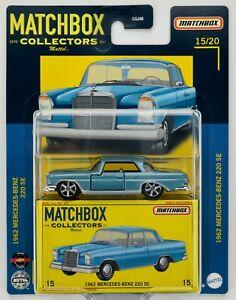 2021 Matchbox Collectors #15 1962 Mercedes-Benz 220 SE HELLBLAU LIGHT BLUE / MOC