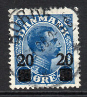 Denmark 20 Ore on 40 Ore Stamp c1926 Used (4852)
