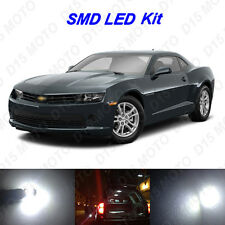 6x White LED Interior Bulbs + Reverse + Tag Lights For 2014-2015 Chevy Camaro