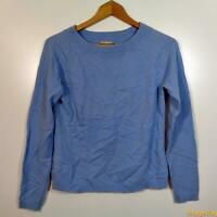 INVESTMENTS Crewneck CASHMERE L/S Sweater Womens Size S Baby blue
