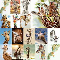 5D DIY Diamond Painting Cute Giraffe Embroidery Needlework Cross Stitch Art Gift