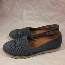 NICE Women's Naturalizer N5 Comfort Leather Slip-on Loafers-Periwinkle-7.5 W