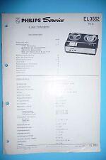Service Manual-Instructions pour philips EL 3552,rk 12, original