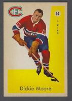 1959-60 Parkhurst Montreal Canadiens Hockey Card #14 Dickie Moore