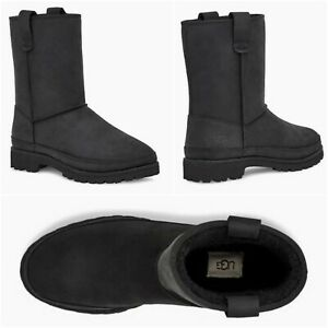 NEW $200 UGG Courtland Weather Men Wool Lined Waterproof Boots Black SELECT SIZE