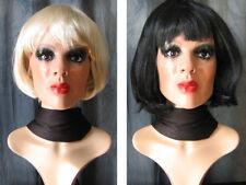 Latexmaske MARILYN, WIMPERN, 2 PERÜCKEN - Real. Frau Maske Latex Crossdresser